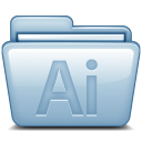 128x128px size png icon of Blue Adobe Illustrator