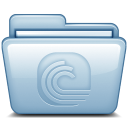 128x128px size png icon of Blue Bittorrent