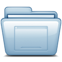 128x128px size png icon of Blue Desktop