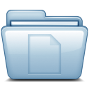 128x128px size png icon of Blue Documents