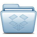 128x128px size png icon of Blue Dropbox