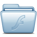 128x128px size png icon of Blue Flash
