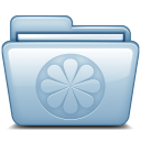 128x128px size png icon of Blue Limewire