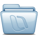 128x128px size png icon of Blue Microsoft Office