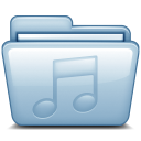 128x128px size png icon of Blue Music