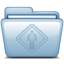 128x128px size png icon of Blue Public