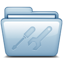 128x128px size png icon of Blue Utilities