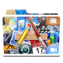 128x128px size png icon of White Apps Alt