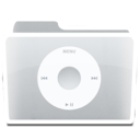 128x128px size png icon of White Music iPod