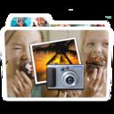 128x128px size png icon of White Photos Alt