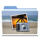 128x128px size png icon of White Photos Beach