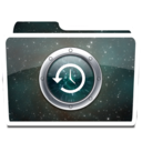 128x128px size png icon of White TimeMachine Alt