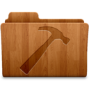 128x128px size png icon of Developer Wood