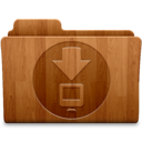 128x128px size png icon of Downloads Wood
