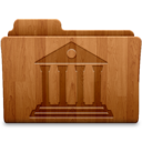128x128px size png icon of Library Wood