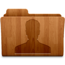128x128px size png icon of User Wood