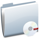 128x128px size png icon of Folder DVD