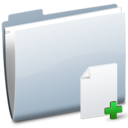 128x128px size png icon of Folder Doc Add