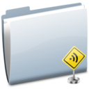 128x128px size png icon of Folder Sign RSS