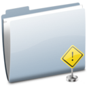 128x128px size png icon of Folder Sign Stop