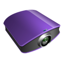 128x128px size png icon of projector violet