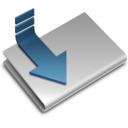 128x128px size png icon of Downloads alt