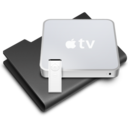 128x128px size png icon of AppleTV Black