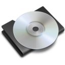 128x128px size png icon of CD Black
