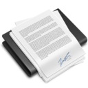 128x128px size png icon of Documents Black