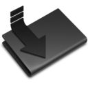 128x128px size png icon of Downloads Black