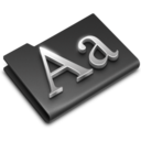 128x128px size png icon of Fonts Black