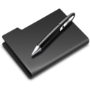 128x128px size png icon of Graphics Pen Black