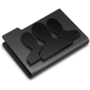 128x128px size png icon of Groups Black