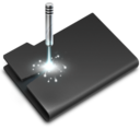 128x128px size png icon of Laser Black