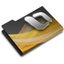 128x128px size png icon of Office 2008 Black