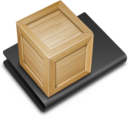 128x128px size png icon of Stuff Black
