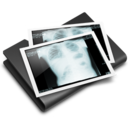 128x128px size png icon of Thorax X Ray Black