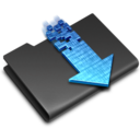 128x128px size png icon of Torrents Black