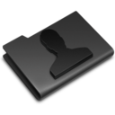128x128px size png icon of Users Black
