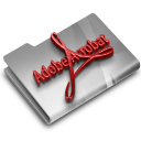 128x128px size png icon of Adobe Acrobat Reader CS3 Overlay