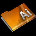 128x128px size png icon of Adobe Illustrator CS3 Overlay