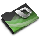 128x128px size png icon of Excel Dark Overlay