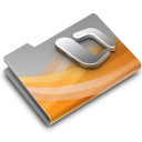 128x128px size png icon of Powerpoint Overlay