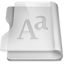 128x128px size png icon of Aluminium font