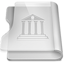 128x128px size png icon of Aluminium library