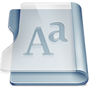 128x128px size png icon of Graphite font