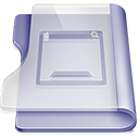 128x128px size png icon of Purple desktop