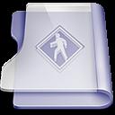 128x128px size png icon of Purple public