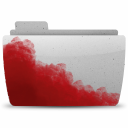 128x128px size png icon of Folder Bloody Gray