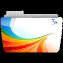 128x128px size png icon of Folder Season 3